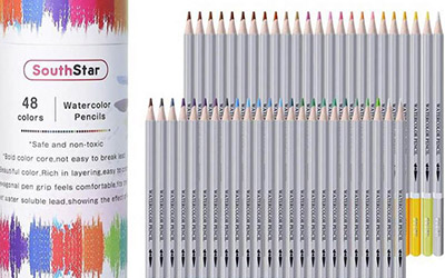Crayons d'aquarelle